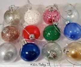 DIY Nail Polish Christmas Ornaments