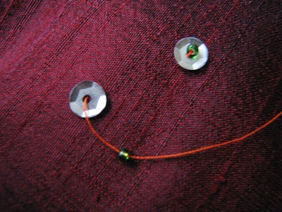 Individual Sequins With Bead Stopper