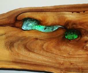 Gnarly Wood Projects With Weird Wood, Broken Glass, LED's and Epoxy.