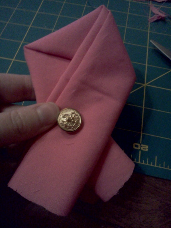 Breast Cancer Awareness Napkin With Button