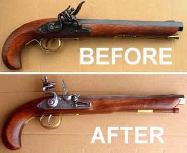 Age and Enhance a Replica Flintlock Pistol
