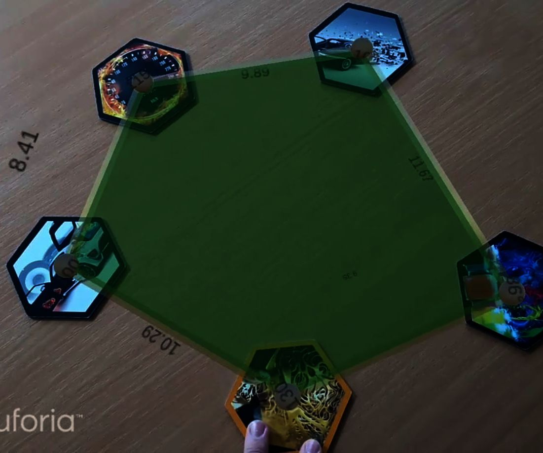 Augmented Reality Shapes Combined From Trackers Unity3D Vuforia