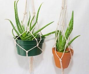 Colgador De Plantas En Macramé / Macramé Simple