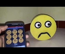 Cardboard Animatronic Smiley With BT App