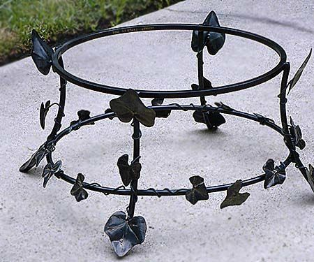 Metal Ivy Leaves Fro Chiminea Stand