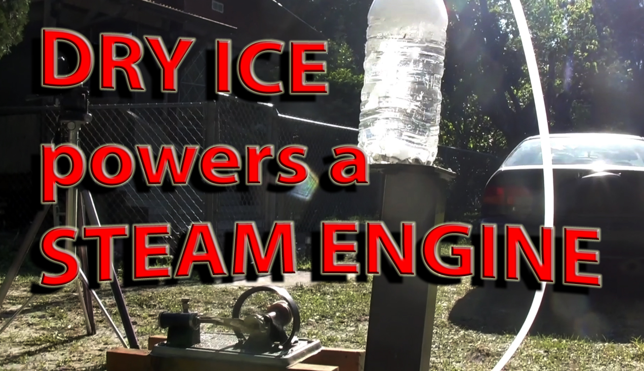 STEAM ENGINE powered by Dry Ice and water