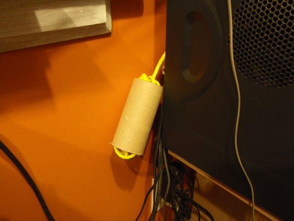 Toilet Paper Roll Cable Organizer