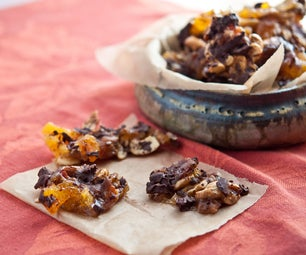 Spicy Bacon Brittle With Cashews, Apricots, and Chocolate