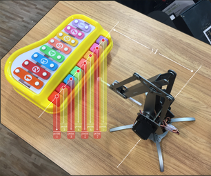 UArm Play Number Song With a Toy Piano