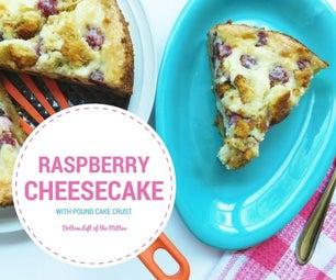 Raspberry Cheesecake With Pound Cake Crust