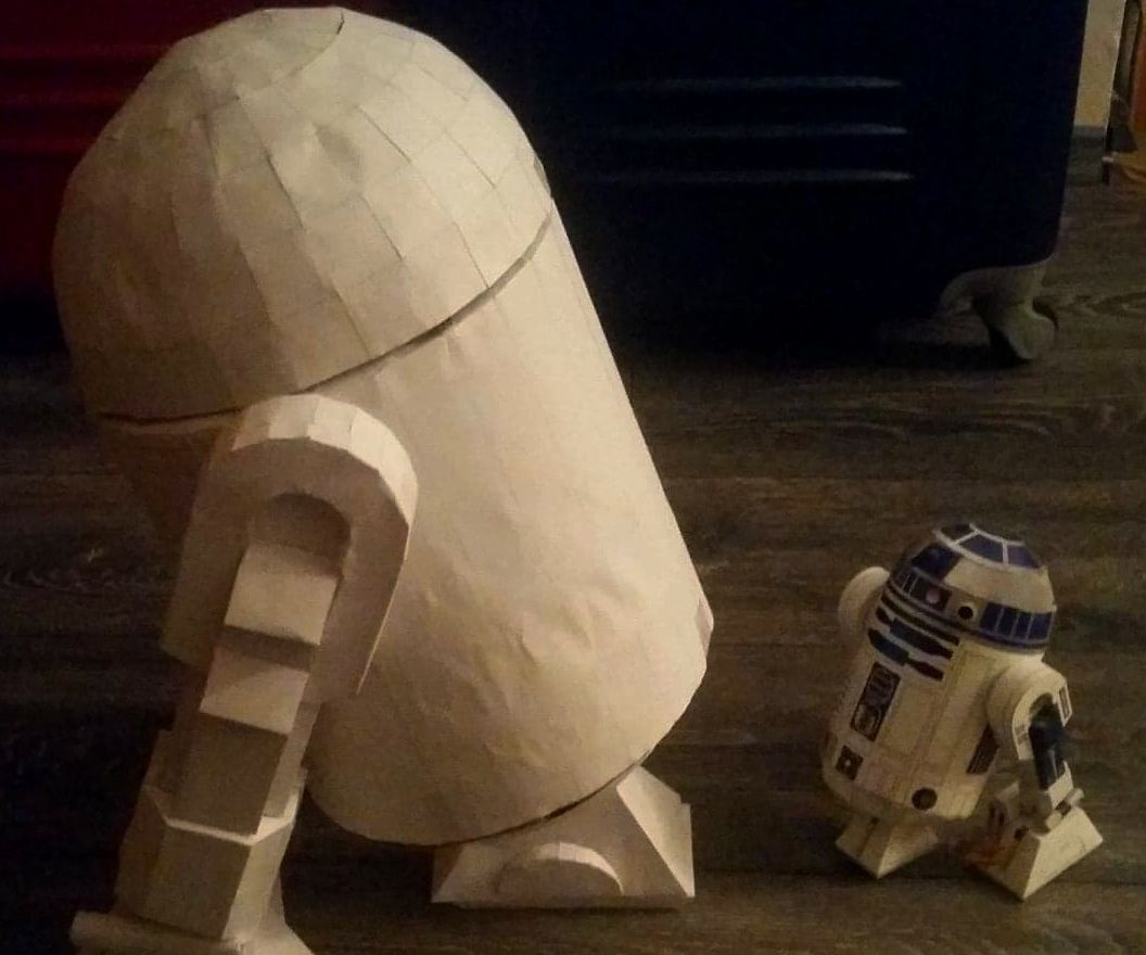 Cardboard R2-D2 With Secret Compartment