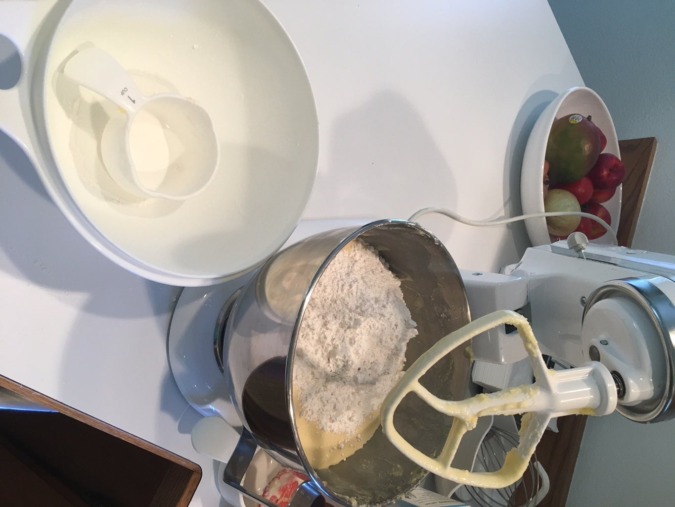 Add the Milk and Rest of the Flour