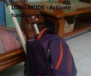 PVC Portable Adjustable Bag Trolley