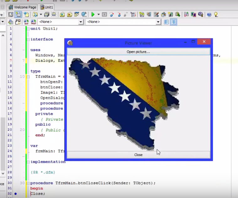 Delphi tutorial - Picture Viewer