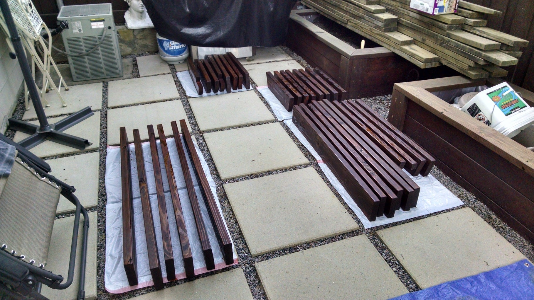 Staining, or Painting