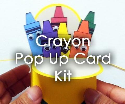 Crayon Popup Greeting Card