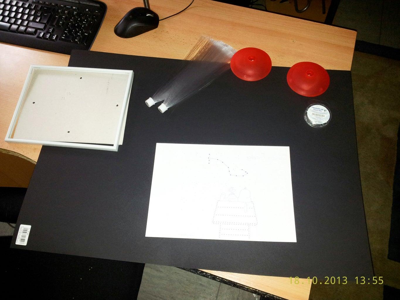 Glass Fiber Custom Build Picture Frame; SNOOPY