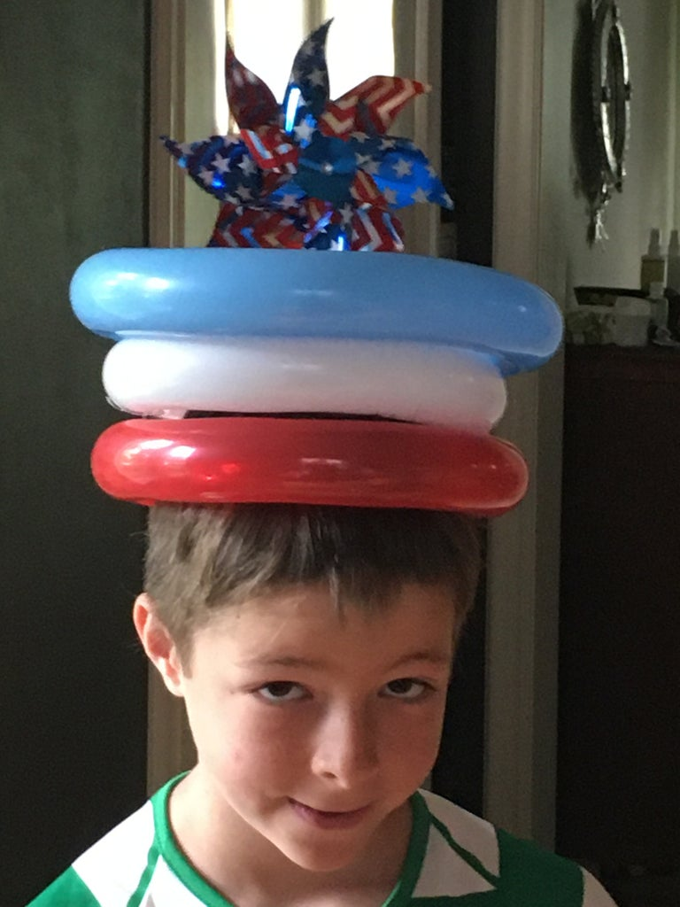 4th of July Balloon Hat