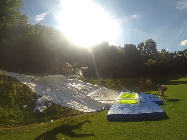 How to Make an Awesome Slip and Slide and How to Ride It by Just Make Lemonade