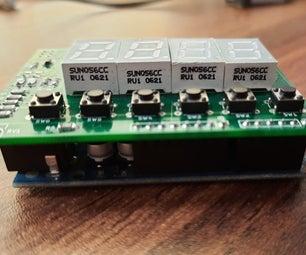 Arduino Shield : Seven Segment + LCD Shield Together