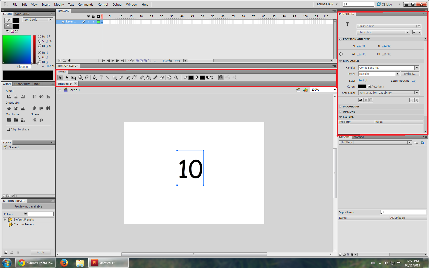 How to make a simple movie countdown animation in flash