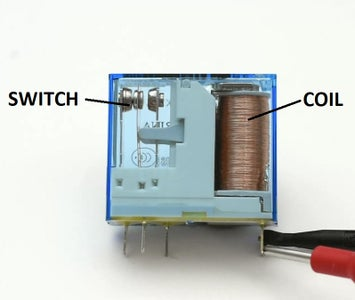 Identify 'Coil' and 'Switch' Side of the Relay