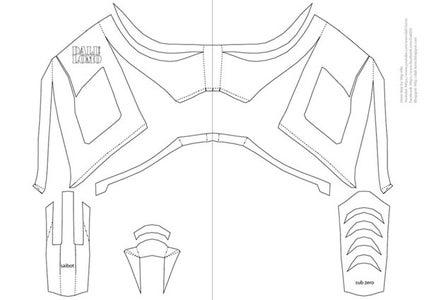 Print PDF Template, Trace & Cut 'cardboard'