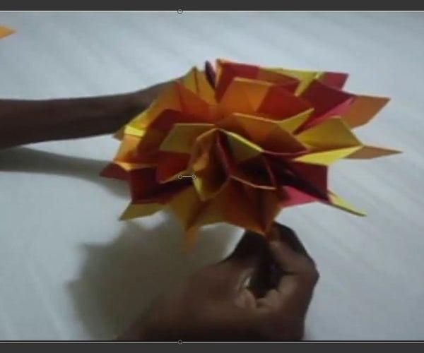 Como Hacer Fuegos Artificiales De Origami - How to Do a Origami Firework
