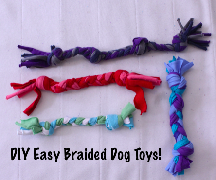 Easy Recycled Braided Dog Toys