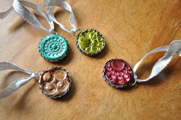 Bottle Cap Wine Glass Charms