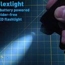 Flexlight: a Solder-free Coin Cell LED Flashlight