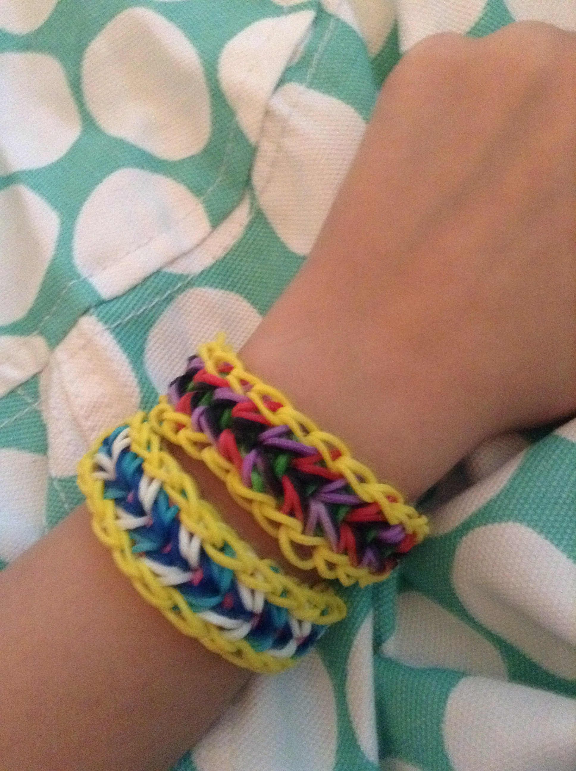 Rainbow Loom Feather Bracelet.