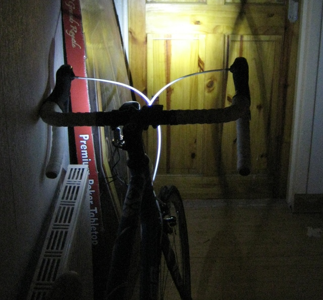 Rechargeable Bike light set with bottle battery