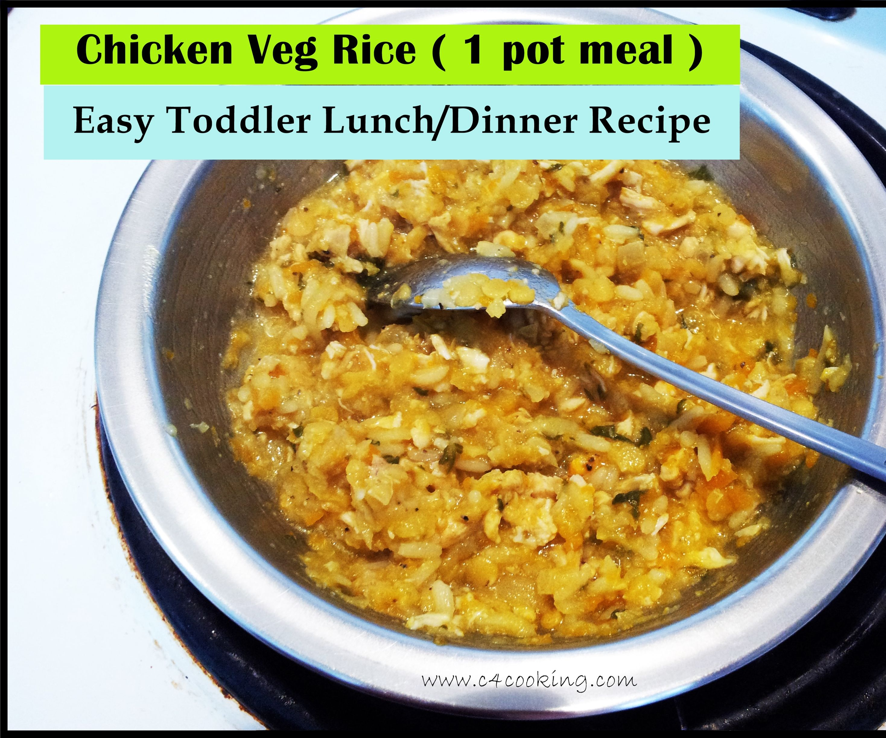 Chicken & Vegetable Rice ( 1 POT MEAL ) - Easy Toddler Lunch/Dinner Recipe