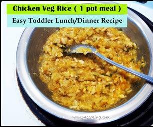Chicken & Vegetable Rice ( 1 POT MEAL ) - Easy Toddler Lunch/Dinner Recipe