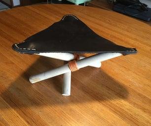 Child Size Leather Tripod Stool