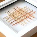 DIY Woven CANE & COPPER Art | Wall Decor Project