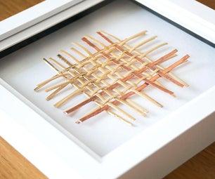DIY Woven CANE & COPPER Art   Wall Decor Project