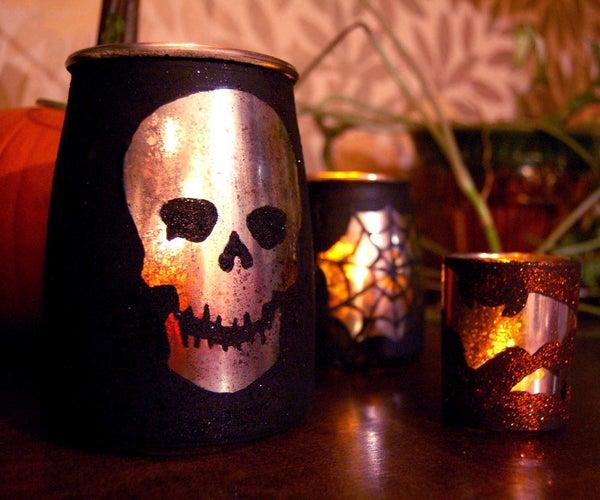 """Mercury Glass"" Spooktacular Halloween Votives"