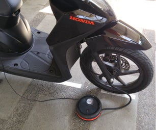 Built-in Tire Inflator for Motorcycle