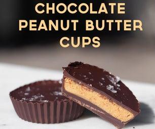自制巧克力花生酱杯