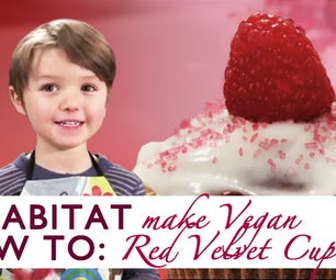4 Year Baker Shows You How to Make Vegan Red Velvet Cupcakes!