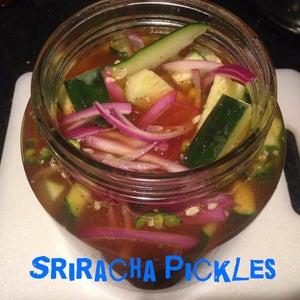 Sriracha Fridge Pickles