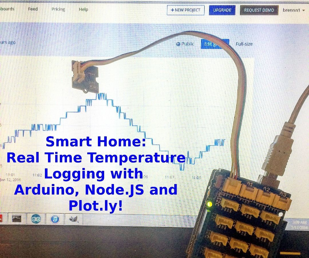 Real Time Temperature Logging with Arduino, NodeJS and Plotly!