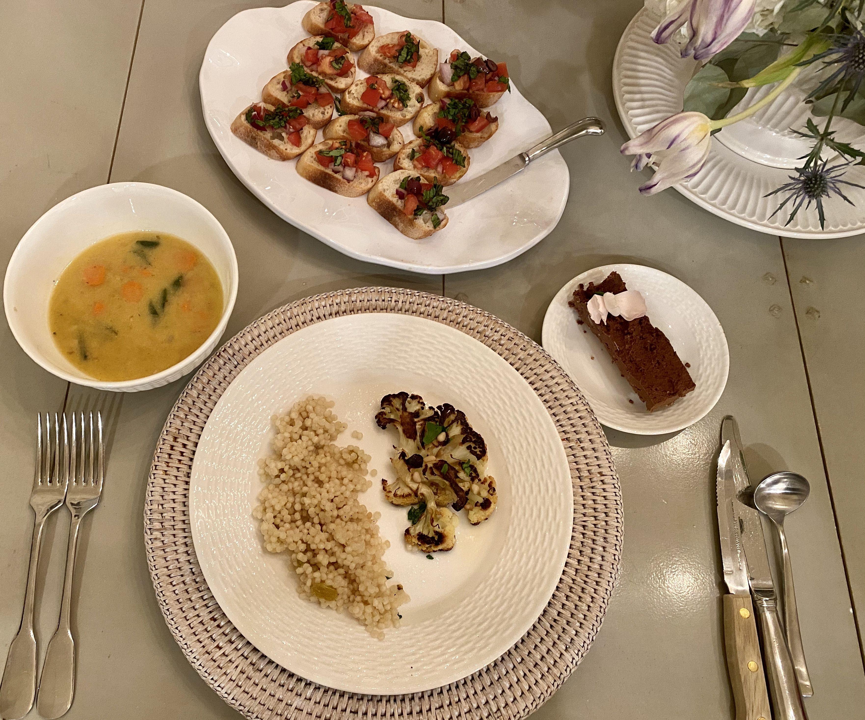 VEGAN Four Course Meal