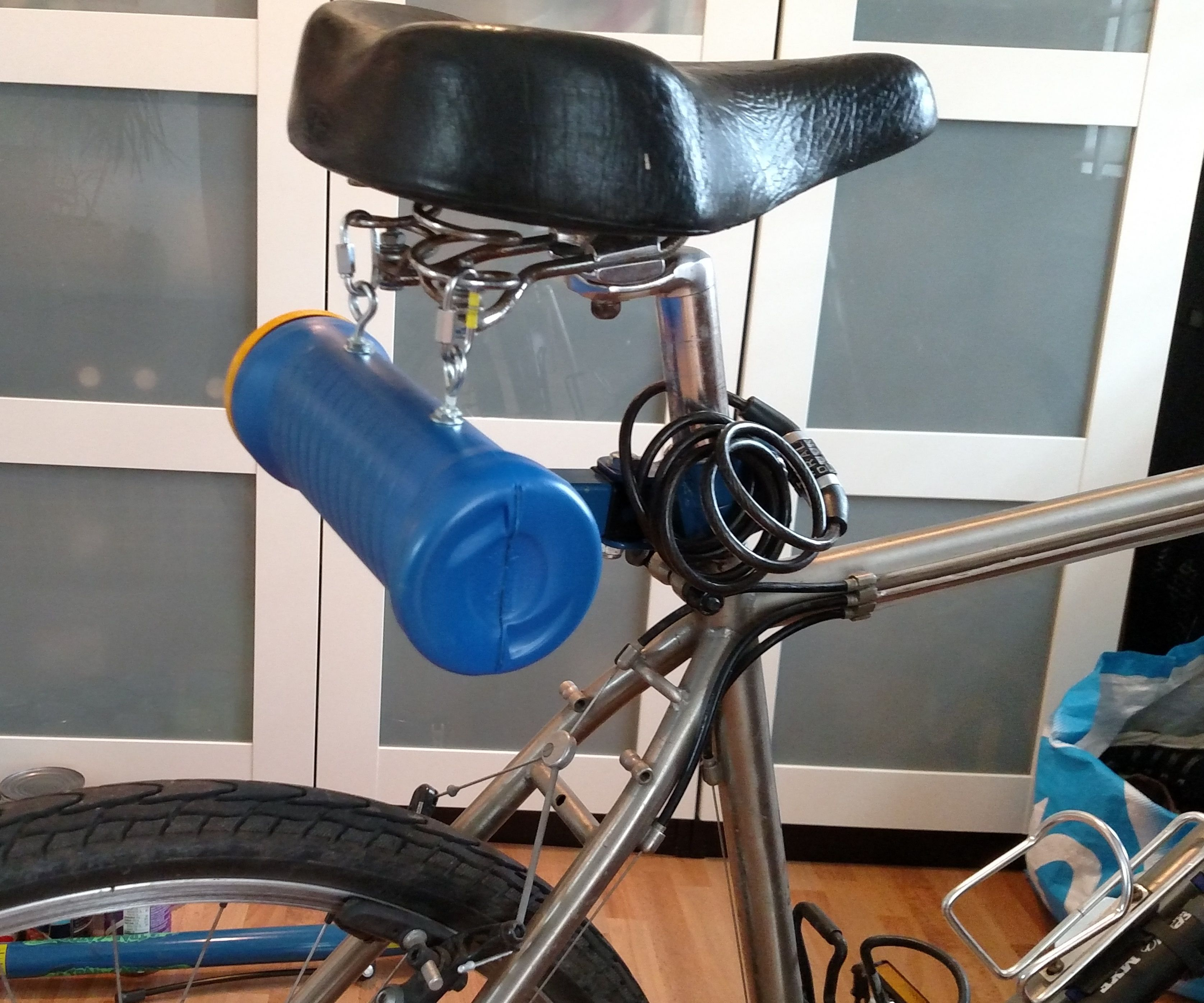 Upcycled Chip Can Bike Bag