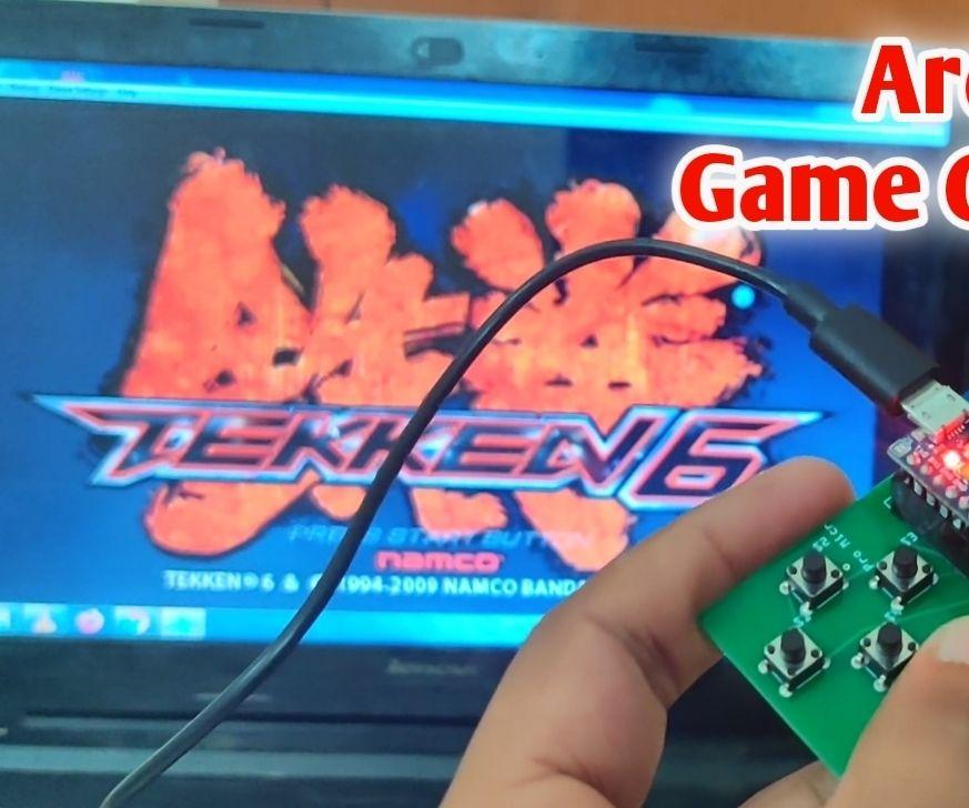 Arduino Based DIY Game Controller   Arduino PS2 Game Controller   Playing Tekken With DIY Arduino Gamepad