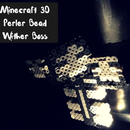 Cheap Minecraft 3D Perler bead Wither Boss with moveable head!