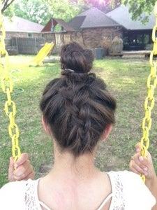 How to Dutch Braid Your Hair Into a Bun
