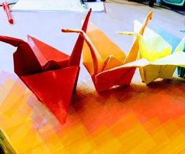 彩虹折纸起重机(超方面)